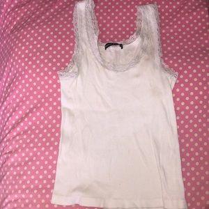 Brandy Melville white  lace tank